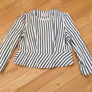 LOFT Asymmetrical Zip Blazer